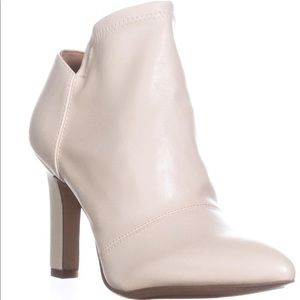 Franco Sarto White Leather Ankle Booties / Boots